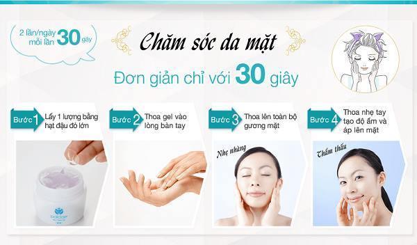 sử dụng palclair chăm sóc da mặt