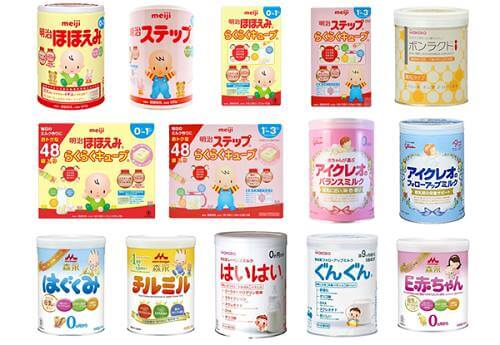 các loại sữa cho trẻ sơ sinh trên thị trường việt nam