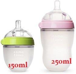 Hai loại bình sữa Comotomo 150ml và 250ml