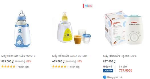 Giá bán các loại máy hâm sữa