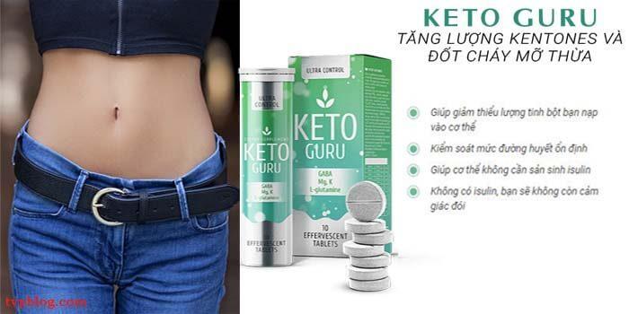 Viên sủi giảm cân Ketoguru có công dụng gì?
