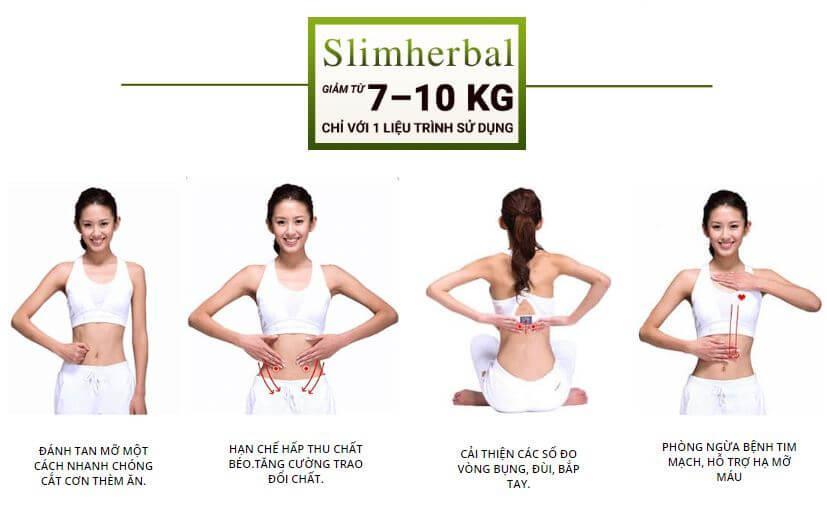 Công dụng chính của giảm cân Slim Herbal