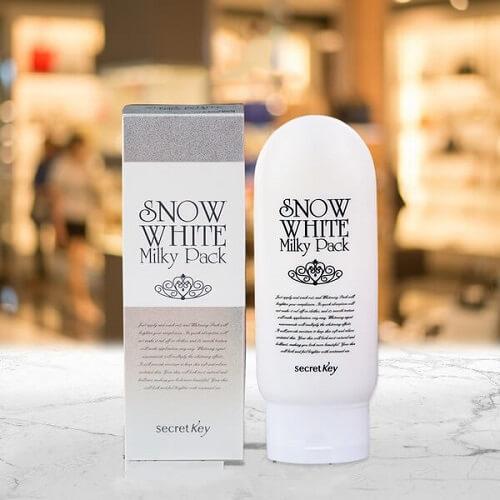 Kem Làm Trắng Mặt Và Toàn Thân Secret Key Snow White Milky Pack