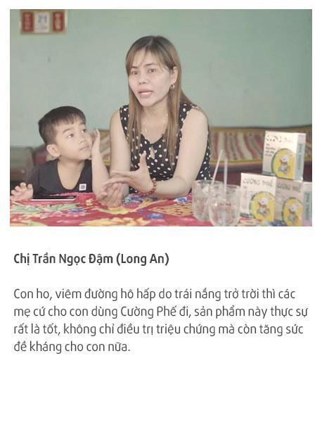 Mẹ ngọc đậm tin tưởng sử dụng cường phế cho con