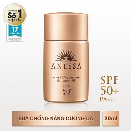 Kem chống nắng cho da hỗn hợp Anessa Perfect UV Sunscreen Skincare Milk