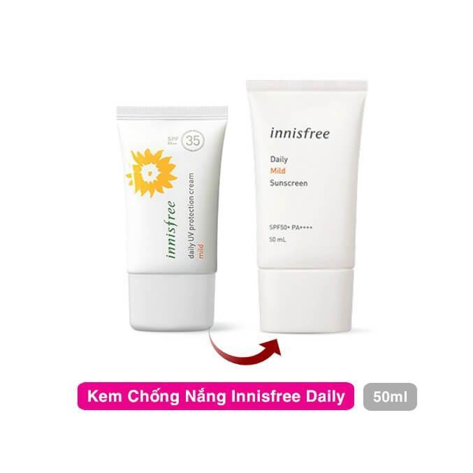 Kem chống nắng cho da nhạy cảm innisfree Daily Mild Sunscreen